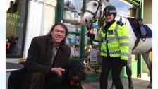 PC Sam Lockyear and Darren Thornton