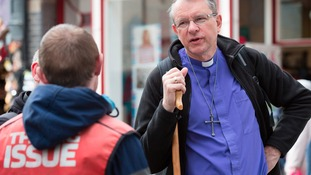Bishop Paul gets out and about on his Prayer Walks in Durham City in 2015
