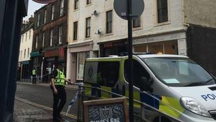 Police Scotland close the road