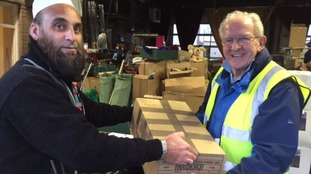 Handing over parcels