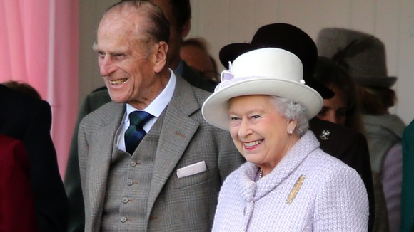 Queen Elizabeth II and the Duke of Edinburgh at the Braemar Gathering.