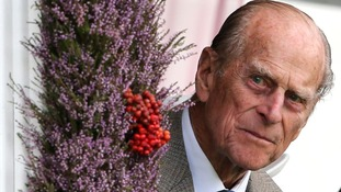 The Duke of Edinburgh at the Braemar Gathering.
