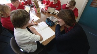 Christine Alsford and pupils