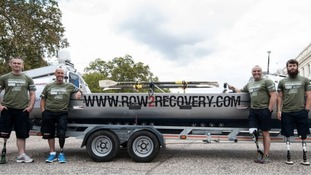 The 'Row2Recovery' team that will row the 3,000 mile race
