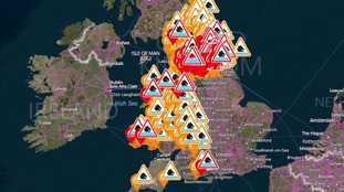 190 flood warnings and alerts are in force across the country