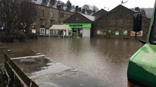 Hebden Bridge under water
