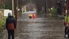 Emergency crews in Elland