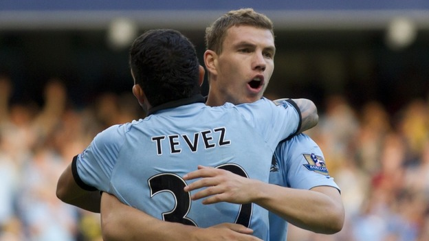 Tevez and Dzeko