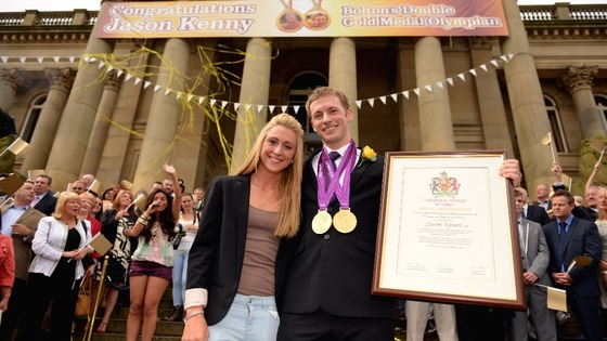 Laura Trott and Jason Kenny at