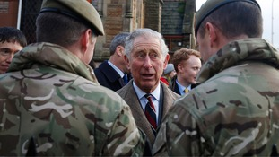 Charles pays tribute to 'personal sacrifice' of armed forces