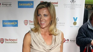 Sally Gunnell arrives at the Mo Farah Foundation fundraising ball in London.