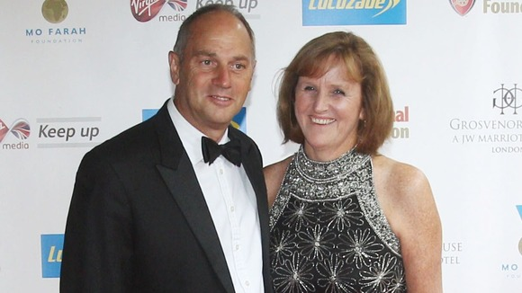 Sir Steve Redgrave and wife Ann arrive at the Mo Farah Foundation fundraising ball.