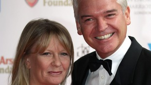 Philip Schofield and wife Stephanie Lowe arrive at the Mo Farah Foundation fundraising ball.