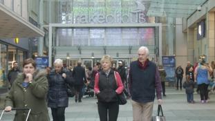 Shoppers at Drake Circus