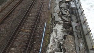 Dover sea wall damage