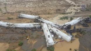The freight train derailed in north-west Queensland, Australia.