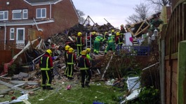 Woman freed from rubble after house explosion in Wolverhampton