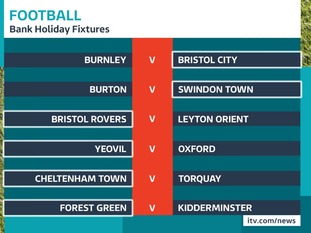 Bank holiday football fixtures