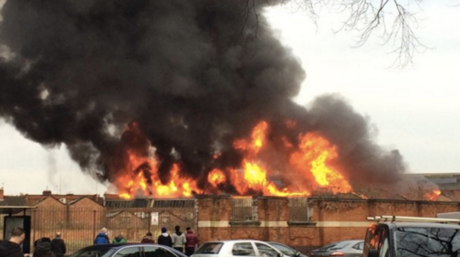 Road closures in Leicester following factory fire