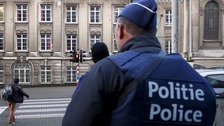 Belgian police on patrol in Brussels earlier this month