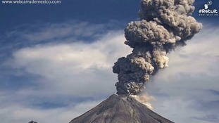 Colima erupted twice in one day
