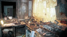 A stock image showing the destruction a kitchen fire can cause.