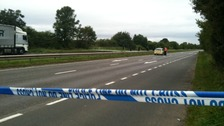 The A444 near Nuneaton is closed in both directions while officers investigate the scene