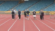 Runners training at Alexander Stadium, Birmingham