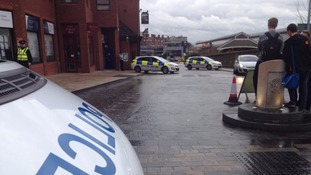 The explosive device was left in the toilets of the Fishergate Shopping Centre in Preston.