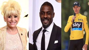 Barbara Windsor, Tony McCoy, Idris Elba and Chris Froome lead New Year's Honours list