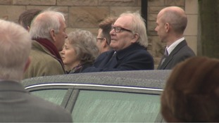 Former ITV Tyne Tees presenter, Mike Neville, was among the mourners.