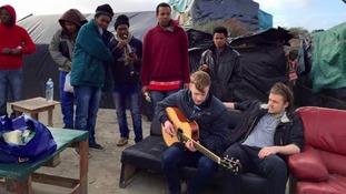 Bolton band perform Refugee Crisis single in Calais