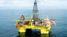 The rig, which belongs to Chinese Oilfield Services Ltd, where the accident happened.