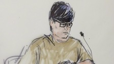 A sketch of Enrique Marquez during a court appearance.
