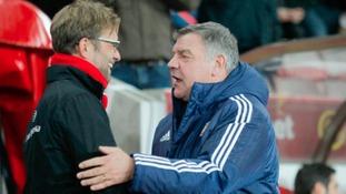 Liverpool manager Jurgen Klopp and Sunderland manager Sam Allardyce