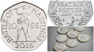 Shakespeare and Beatrix Potter appear on new coin designs for 2016
