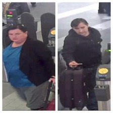 The pair wanted by police