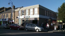 The gang robbed this Natwest bank in St Neots.