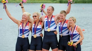 Riches celebrates rowing gold