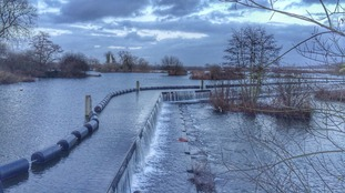 Holyfield Weir at Lee Valley Park, near Waltham Abbey in Essex.