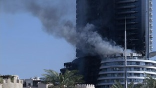 Residents were evacuated from The Address hotel in downtown Dubai