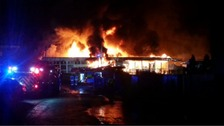 Coed Eva fire