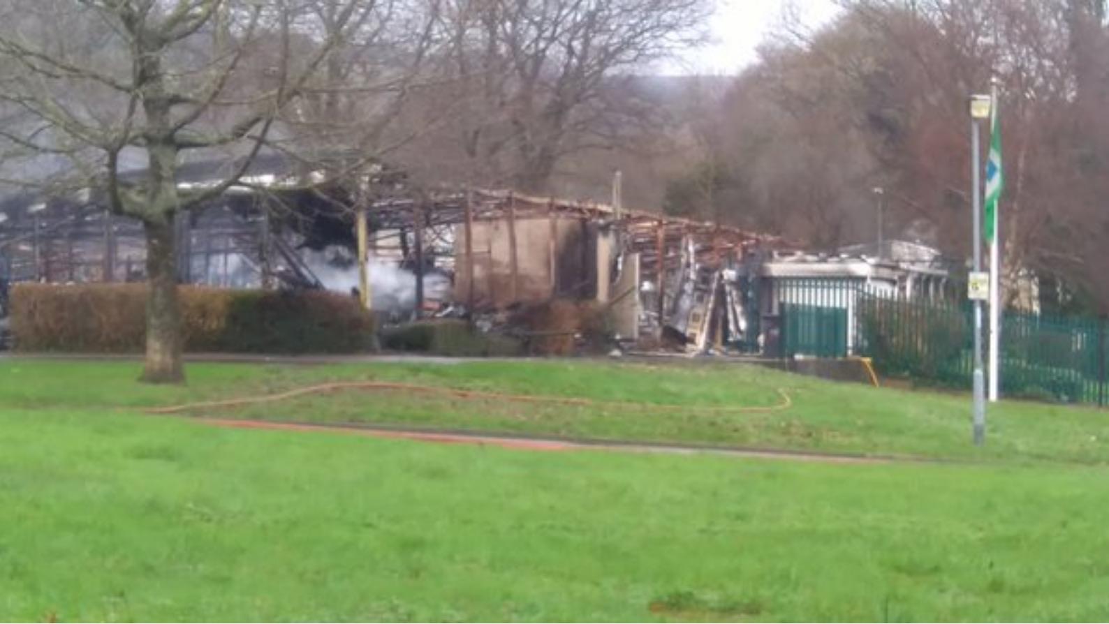 witnesses to cwmbran school blaze sought wales itv news. Black Bedroom Furniture Sets. Home Design Ideas
