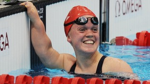 Ellie Simmonds in the 400m Freestyle S6