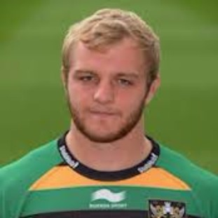Saints star Mark Haywood who scored the only try in the win over Exeter on New Year's Day