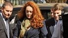 Rebekah Brooks and her husband Charlie arrive at Westminster Magistrates Court last month