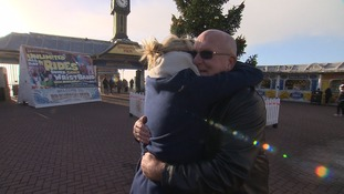 Emotional reunion for paramedic and pensioner following beach pier rescue