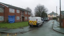 Officers were called to the flat in Forge Road at around 7.05pm yesterday.