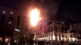 The fire took hold in one of Dubai's tallest buildings