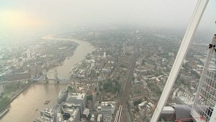 The view from the top of western Europe's tallest building.